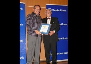 Gert Jonker receives the Award at Mogale City Commerce and Tourism Awards Function