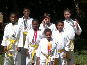 The Bethany House Trust Karate Students from Bethany House