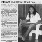 The Bethany House Trust International Street Child Day